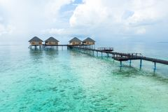 Best all-inclusive Maldives water-villa resorts in Maldives. This photo was taken in Maldives. All-inclusive resorts provide that wonderful feeling of luxury Stock Photo