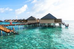 Best all-inclusive Maldives water-villa resorts in Maldives. This photo was taken in Maldives. All-inclusive resorts provide that wonderful feeling of luxury Stock Photos