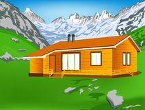 Best alps mountains resort Royalty Free Stock Photo