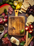 Best antipasto plate. Royalty Free Stock Photography