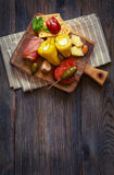 Best antipasto plate. Royalty Free Stock Photo