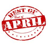 Best of April. Rubber stamp with text best of April inside,  illustration Royalty Free Stock Photos