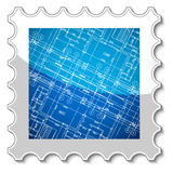 Best architecture stamp Royalty Free Stock Photos
