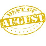 Best of August. Rubber stamp with text best of August inside,  illustration Stock Photography