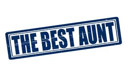 The best aunt. Stamp with text the best aunt inside,  illustration Royalty Free Stock Photography