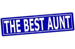 The best aunt. Stamp with text the best aunt inside,  illustration Stock Images