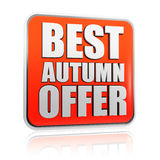 Best autumn offer banner Stock Photography
