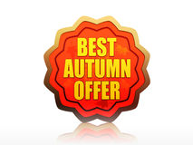 Best autumn offer starlike label Stock Photo