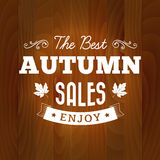 The best autumn sales vintage on wood background Stock Images