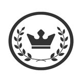 Best award label Laurel wreath and crown success icon 2 Stock Image