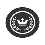 Best award label Laurel wreath and crown success icon 1 Stock Images