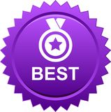 Best award medal. Vector illustration isolated on white background - Best seller selling product medal stared vector illustration