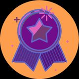 Best of badge with ribbon icon award champion label Stock Image