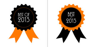 Best of 2013 badge. With ribbons, business symbol for your products Royalty Free Stock Image