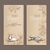 Best bakery cards. Menu cards sketch. Stock Photography