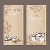 Best bakery cards. Menu cards sketch. Royalty Free Stock Photos