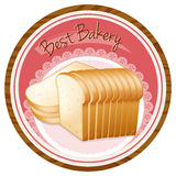 A best bakery label with a loaf of bread Royalty Free Stock Images