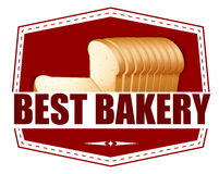 A best bakery label with slices of bread Stock Photography