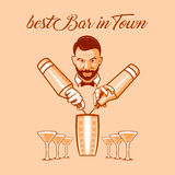 Best bar in town ad Royalty Free Stock Photos