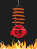 Best BBQ grill icon. stock illustration