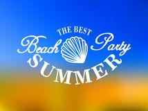 Best beach party poster Royalty Free Stock Image