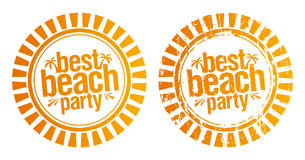 Best beach party stamp. Stock Photography