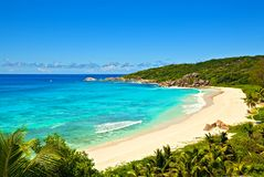 The Best Beach In The World. Beach Grand Anse - best beach in the world, Seychelles, La Digue island Stock Photography