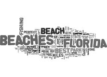 Best Beaches In Florida Word Cloud. BEST BEACHES IN FLORIDA TEXT WORD CLOUD CONCEPT royalty free illustration