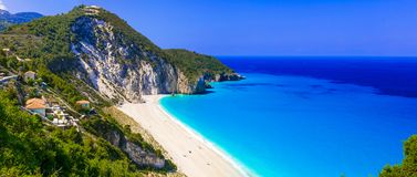 Best beaches of Lefkada - impressive Milos.Greece stock photography