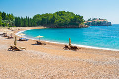 The best beaches of Montenegro Royalty Free Stock Image