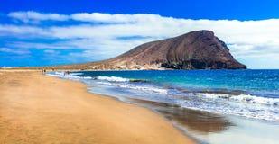 Best beaches of Tenerife island - La Tejita beach. royalty free stock photography