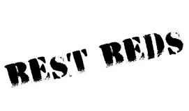 Best Beds rubber stamp. Grunge design with dust scratches. Effects can be easily removed for a clean, crisp look. Color is easily changed Royalty Free Stock Photos