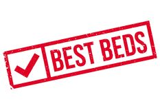 Best Beds rubber stamp. Grunge design with dust scratches. Effects can be easily removed for a clean, crisp look. Color is easily changed Stock Photography