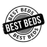 Best Beds rubber stamp. Grunge design with dust scratches. Effects can be easily removed for a clean, crisp look. Color is easily changed royalty free illustration