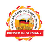 Best beer, brewed in Germany stamp for print Royalty Free Stock Images