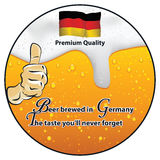 Best beer, brewed in Germany stamp for print Stock Images