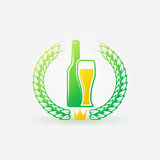 Best Beer bright logo or label Royalty Free Stock Images