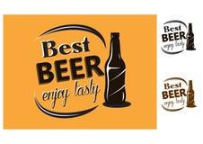Best Beer - enjoy tasty - poster Stock Images