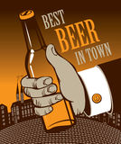 Best Beer in town Royalty Free Stock Photo