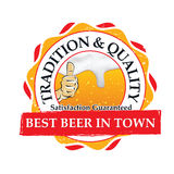 Best beer in town, Tradition and quality; stamp for print Stock Image