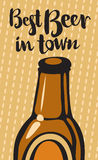 Best beer and town Stock Photo