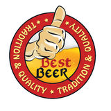 Best beer, Tradition and quality - printable sticker Royalty Free Stock Image