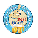Best beer, Tradition and quality - printable sticker Royalty Free Stock Photo