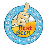 Best beer, Tradition and quality - printable sticker Royalty Free Stock Images