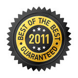 Best Of The Best 2011 label. Vector illustration of Best Of The Best label Stock Photos