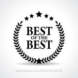 Best of the best icon stock illustration