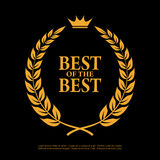 Best of the best laurel symbol Stock Image