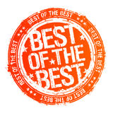 Best of the best stamp. royalty free illustration