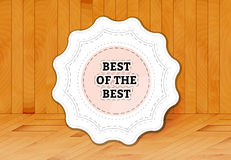 Best of the best stamp Royalty Free Stock Photography
