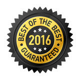 Best of the Best 2016 sticker Royalty Free Stock Image